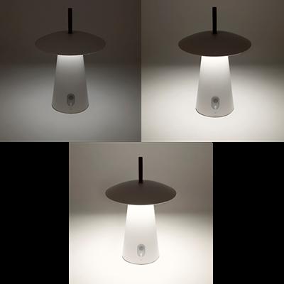 Trois intensité de lumière