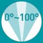 0°-100° up