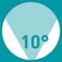 10° up
