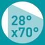 28°x70°