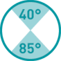 40°-85°
