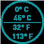 0°C +45°C